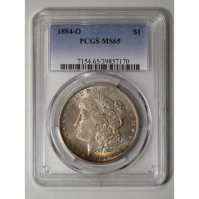1884-O $1 Morgan Dollar PCGS MS65