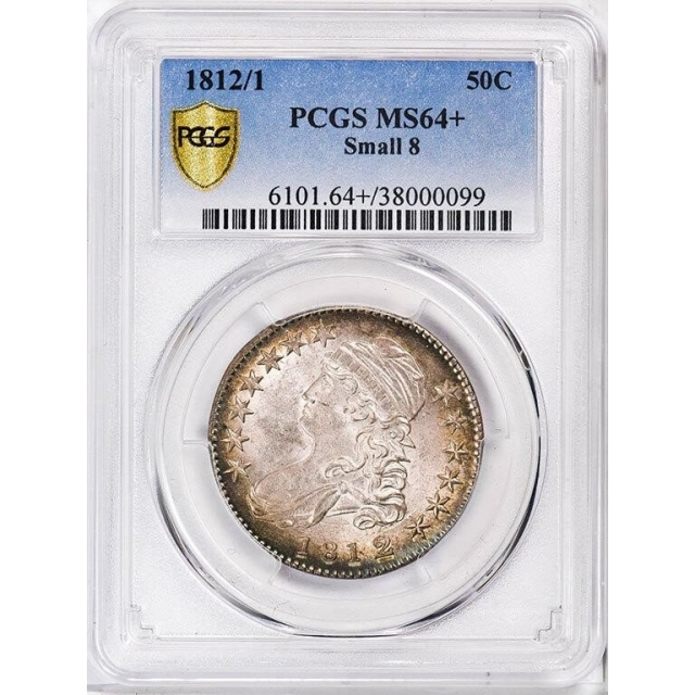 1812/1 50C Small 8 Capped Bust Half Dollar PCGS MS64+