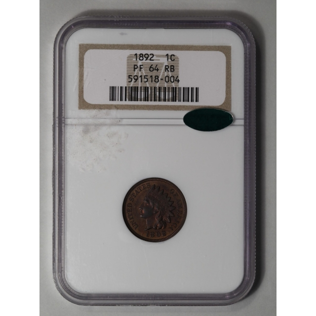 1892 1C Indian Cent - Type 3 Bronze NGC (CAC)