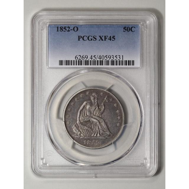1852-O 50C Liberty Seated Half Dollar PCGS XF45