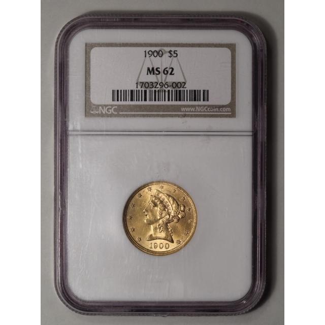 1900 $5 Liberty Head Half Eagle PCGS