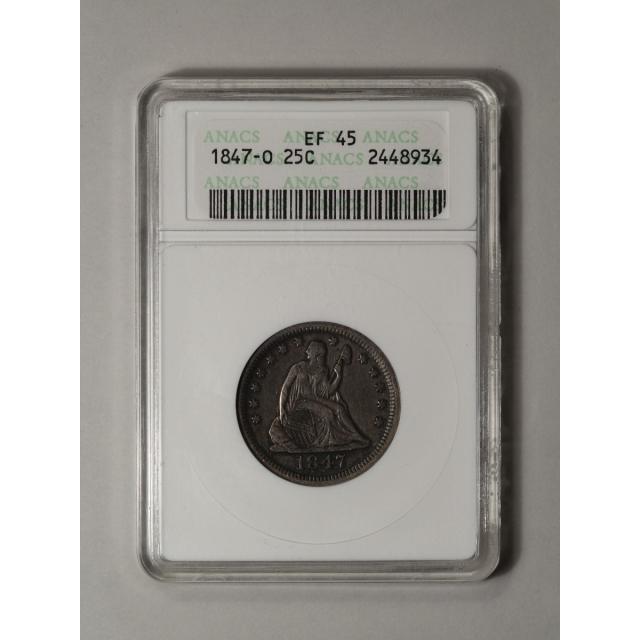 1847-O 25C Liberty Seated Quarter ANACS