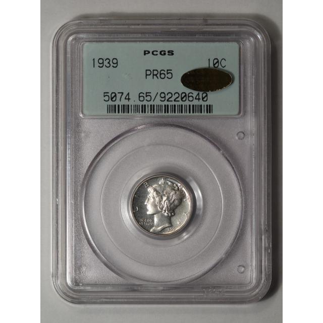 1939 10C Mercury Dime PCGS PR65 (CAC_GOLD)