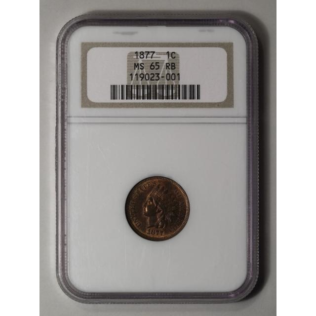 1877 1C Indian Cent - Type 3 Bronze NGC