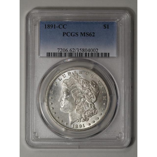 1891-CC $1 Morgan Dollar PCGS MS62