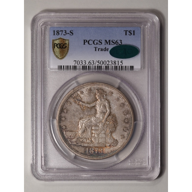 1873-S T$1 Trade Dollar PCGS MS63 (CAC)