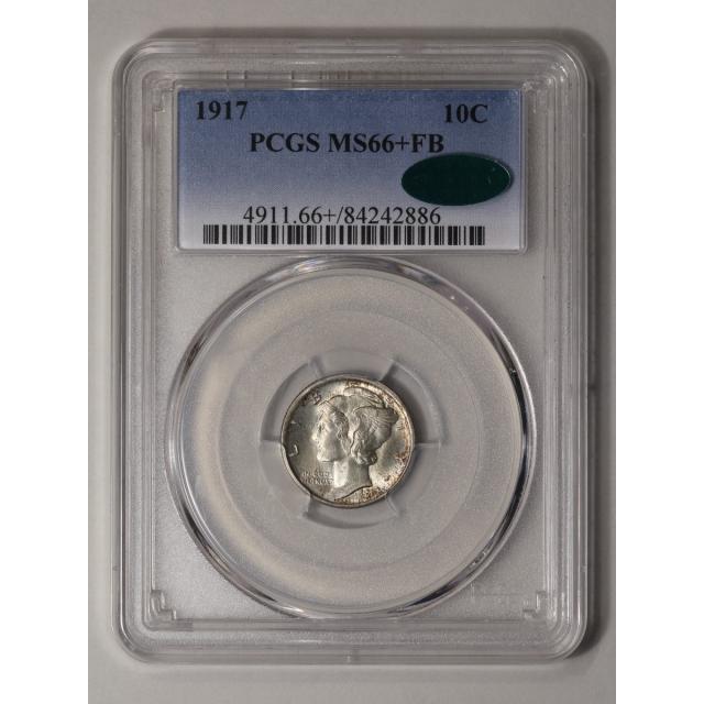 1917 10C Mercury Dime PCGS MS66+FB (CAC)