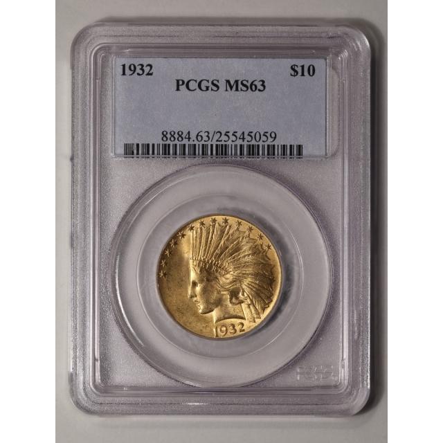 1932 $10 Indian Head PCGS MS63