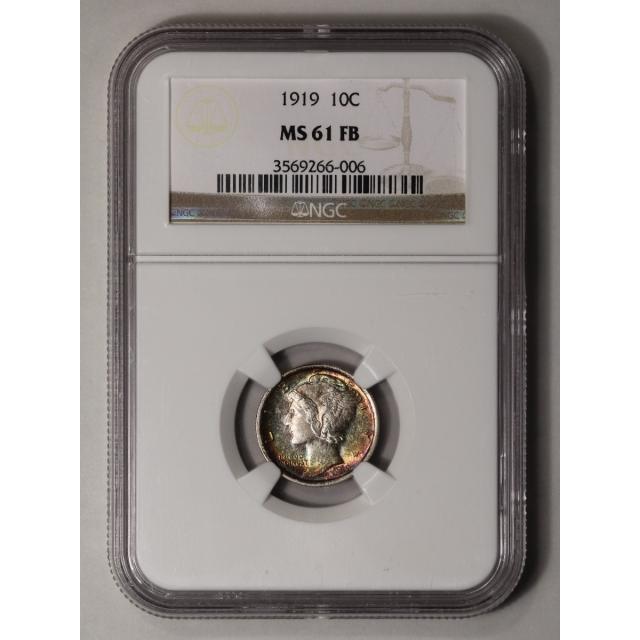 1919 Mercury Dime 10C NGC MS61FB