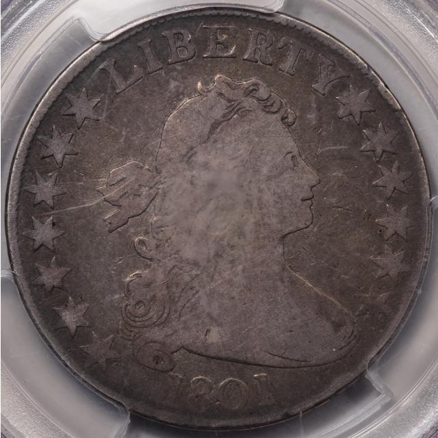 1801 50C Overton 101 Draped Bust Half Dollar PCGS VG10