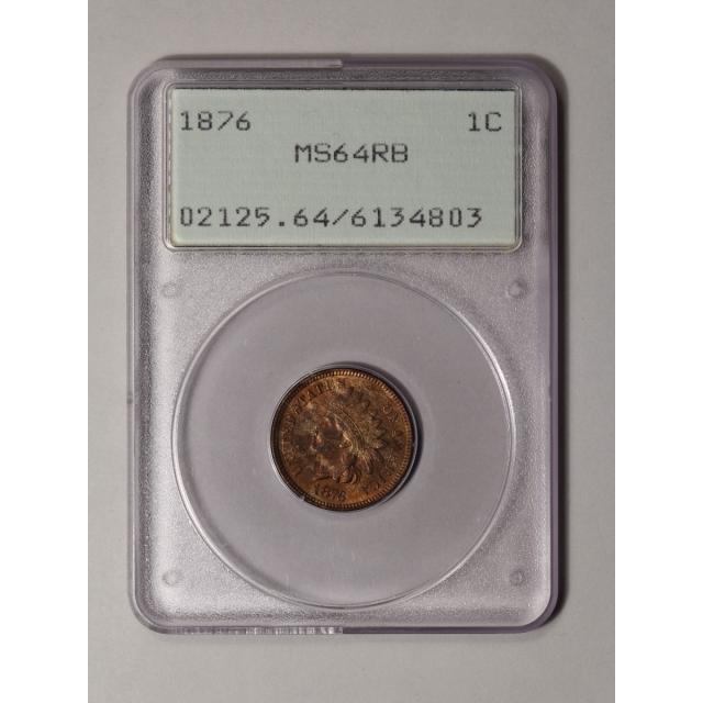 1876 1C Indian Cent - Type 3 Bronze PCGS