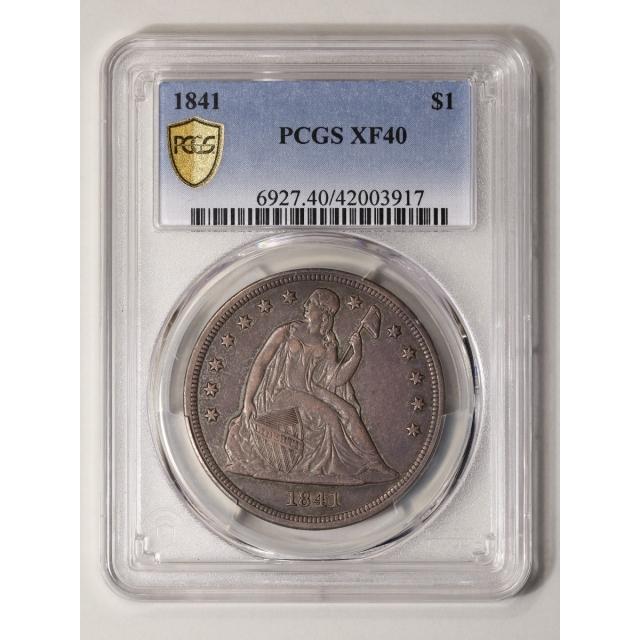 1841 $1 Liberty Seated Dollar PCGS XF40