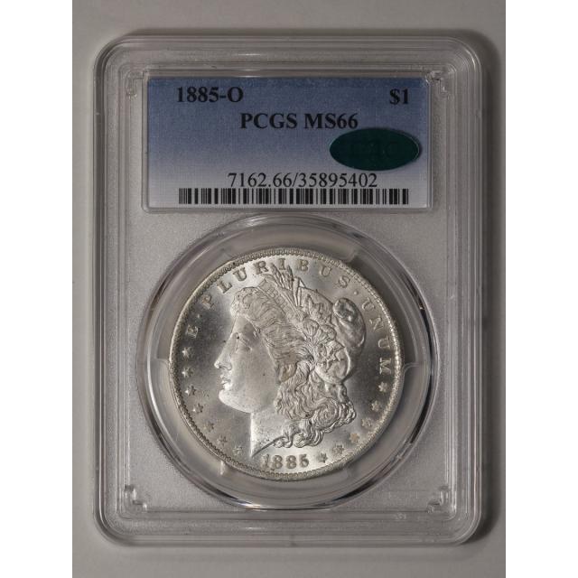 1885-O $1 Morgan Dollar PCGS MS66 (CAC)