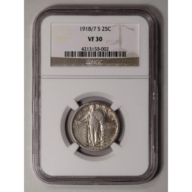 1918/7-S Standing Liberty Quarter 25C NGC VF30
