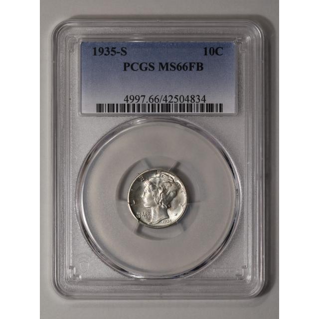 1935-S 10C Mercury Dime PCGS MS66FB