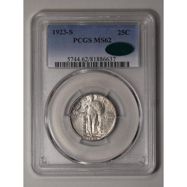 1923-S 25C Standing Liberty Quarter PCGS MS62 (CAC)