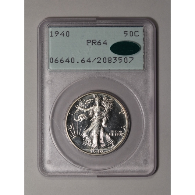 1940 50C Walking Liberty Half Dollar PCGS (CAC)