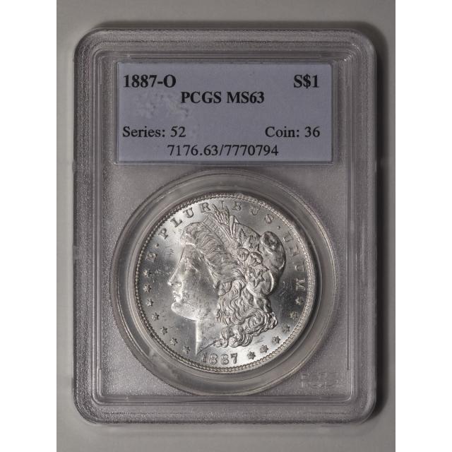 1887-O $1 Morgan Dollar PCGS MS63