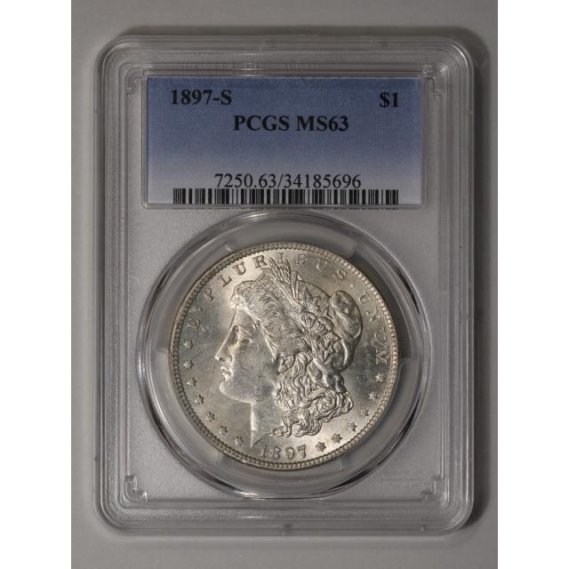 1897-S $1 Morgan Dollar PCGS MS63