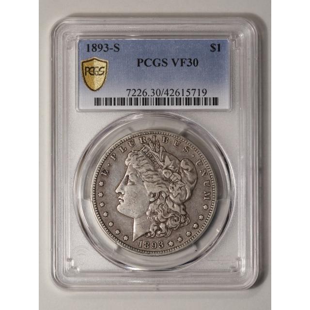 1893-S $1 Morgan Dollar PCGS VF30