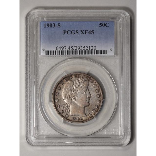 1903-S 50C Barber Half Dollar PCGS XF45