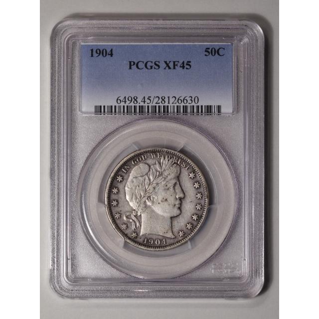 1904 50C Barber Half Dollar PCGS XF45