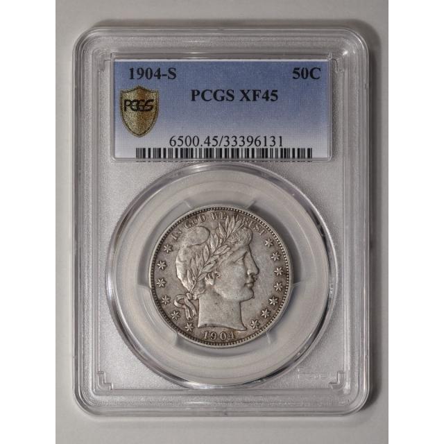 1904-S 50C Barber Half Dollar PCGS XF45