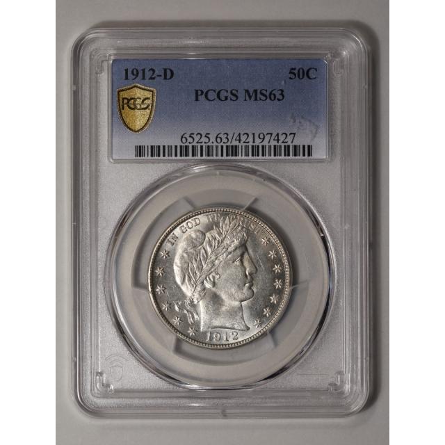 1912-D 50C Barber Half Dollar PCGS MS63