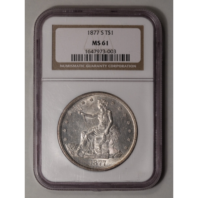 1877-S Trade Dollar T$1 NGC MS61