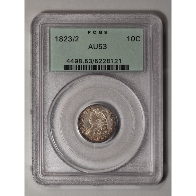 1823/2 10C Small E's Capped Bust Dime PCGS AU53