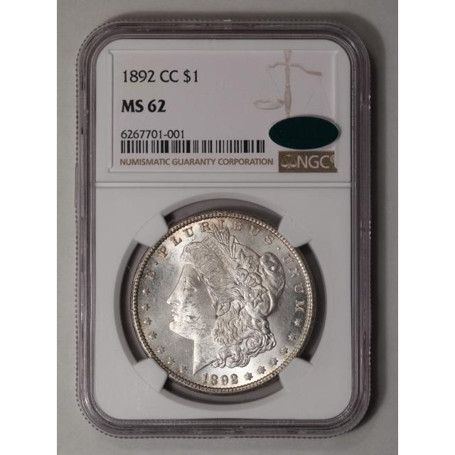 1892-CC Morgan Dollar S$1 NGC MS62 (CAC)