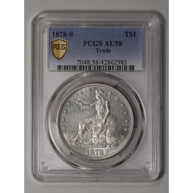 1878-S T$1 Trade Dollar PCGS AU58