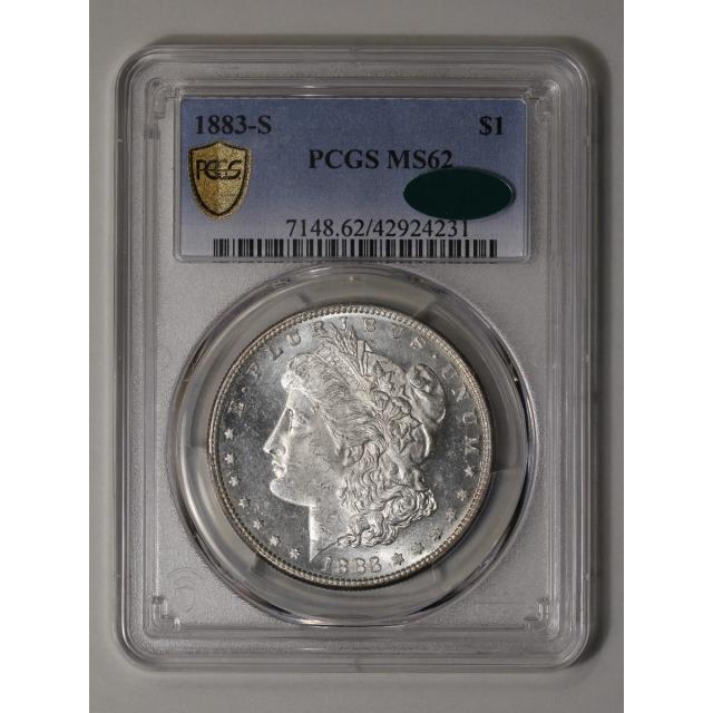 1883-S $1 Morgan Dollar PCGS MS62 (CAC)
