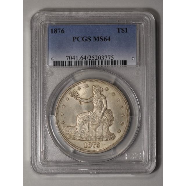 1876 T$1 Trade Dollar PCGS MS64