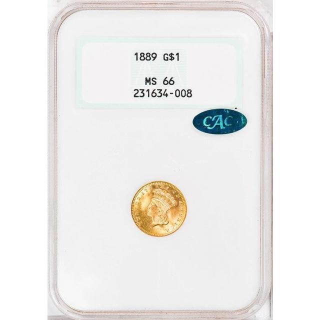 1889 G$1 Gold Dollar NGC MS66 (CAC)